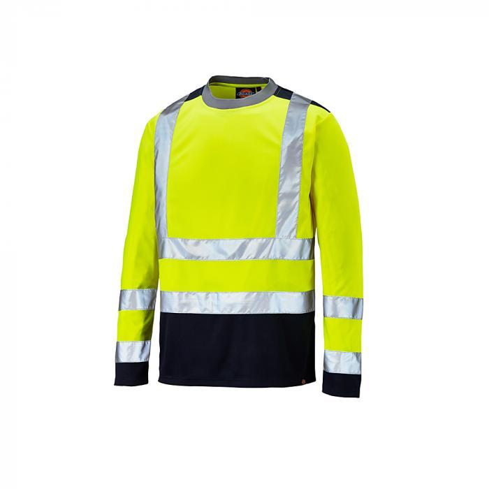 Långärmad skjorta för varningsskydd - Dickies - tvåfärgad - mycket synlig - storlek S till 4XL - gul / marinblå