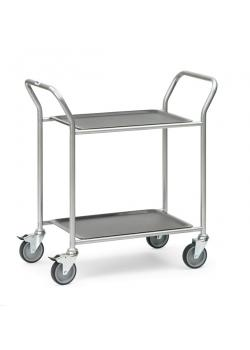 Trolley - with 2 or 3 floors - removable trays