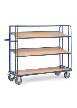 Shelved trolley - with 2 loose soils of wood - height 1560 mm