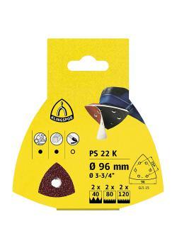 Schleifpapier Scheiben PS 22 K - Durchmesser 96 mm - Korn 40 bis 180 - VE 25 Stück - Preis per VE