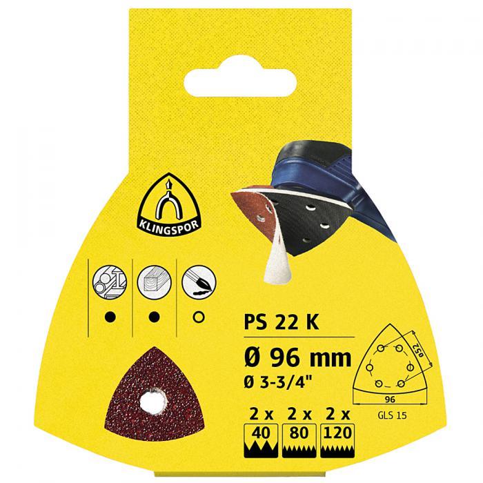 Schleifpapier Scheiben PS 22 K - Durchmesser 96 mm - Korn 40 bis 180