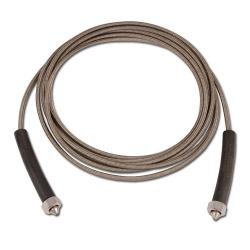PTFE slang - med rostfri vävarmering - längd 5,0 m