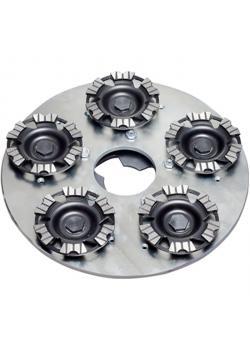 Rouleau Diamantrotierteller - avec 5 disques diamantés montés à rotation Ø 125 mm