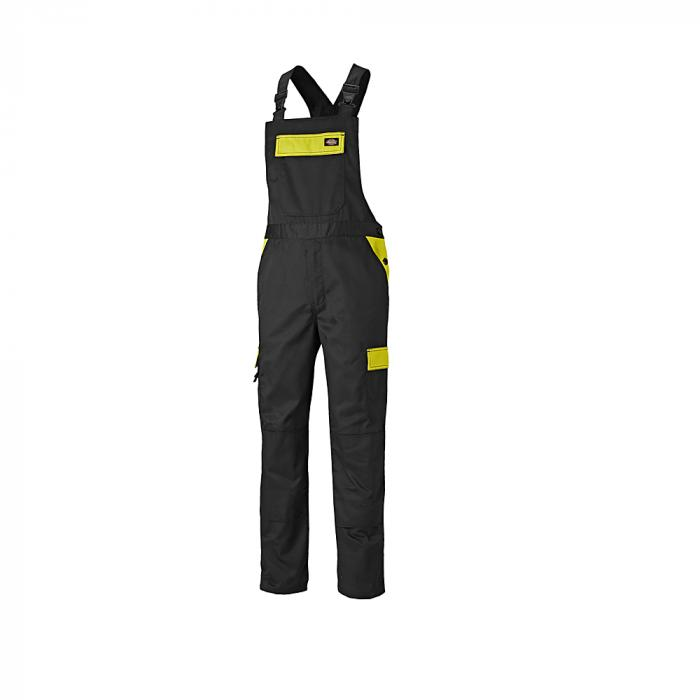 Latzhose Everyday - Dickies - Größe 44 bis 62 - schwarz/gelb