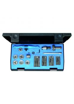 Thread cutting kit - for interior u. External thread - including ratchet - M3-M6
