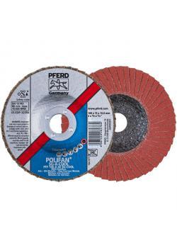 Fächerschleifscheibe - PFERD POLIFAN® - für INOX/NE-Metall - flache Ausführung COOL - VE 10 Stück - Preis per VE