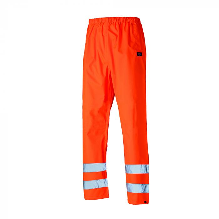 Warning protection overtrousers - Dickies - waterproof - highly visible - size S to 4XL - orange