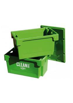 CLEAN BOX - Hart-Polyethylen - mit Deckel und Tauchkorb - Füllmenge 50 Liter