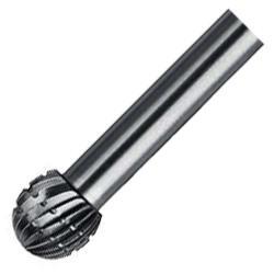 HM-Frässtifte - Länge 32- 54mm - Zahnung Alu Kugelform KUD (DIN 8032) für ALU/NE