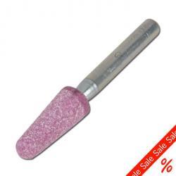 Slipstift - kornstorlek 30 - hårdhet M - huvud-Ø 25 mm - konisk