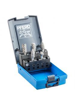 Frässtift-Set - PFERD - 5 Hartmetallfrässtifte - Schaft-Ø 6 mm - STEEL-Zahnung
