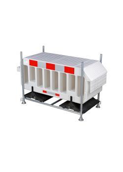 Lager- und Transportgestell - verzinkt - mit 15 Gittern - verschiedene Farben