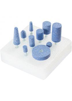Schleifstift-Set - PFERD - Schaft-Ø 6 mm - Härte J - 10 verschiedene Schleifstifte