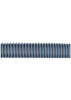 Abgasschlauch NTP - Thermoplast - außenliegende Wendel - schwarz/blau - Ø 75 bis 150 mm - Länge 5 bis 10 m - Preis per Rolle