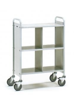 Office Cart - with 3 floors and 1 partition - 150 kg