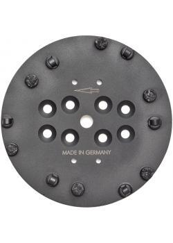 """PKD-Scheibe """"PRO"""" - Durchmesser 250 mm - mit 6 PKD-Segmenten und 6 Stützsegmenten"""
