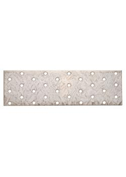 Stahl-Lochplatte - verzinkt - Maße 200 x 60 mm
