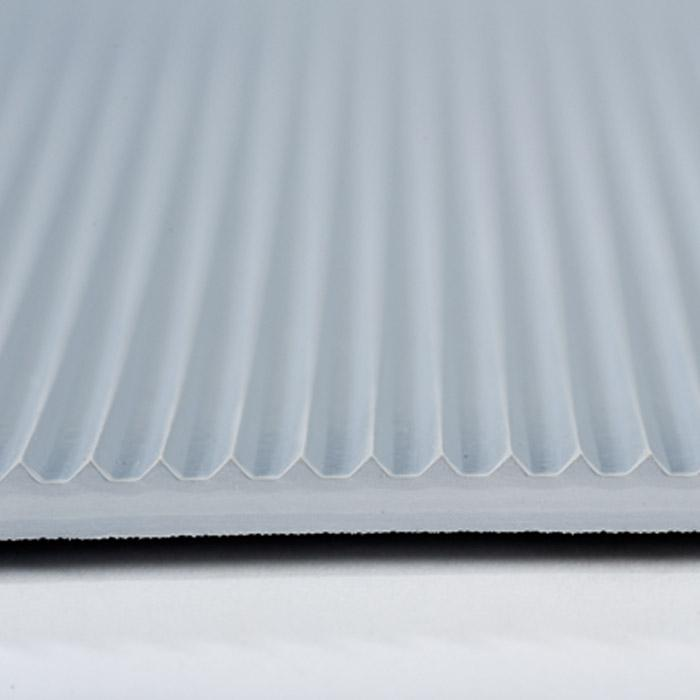 Arbetsplatsmatta - isolerande - räfflad/slät - grå - pris per meter