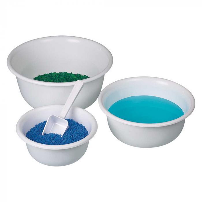 Skål steriliserbar - PP - vit - innehåll 0,9 till 6,6 liter