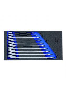Maulschlüssel-Satz - mit Ringratsche - in Check-Tool-Modul - SW 8-19mm