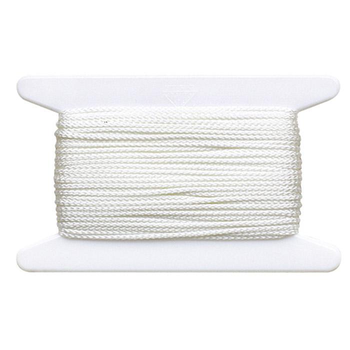 Bauschnur - Polyamid - weiß - Ø 1,4 mm - auf Plastik-Haspel