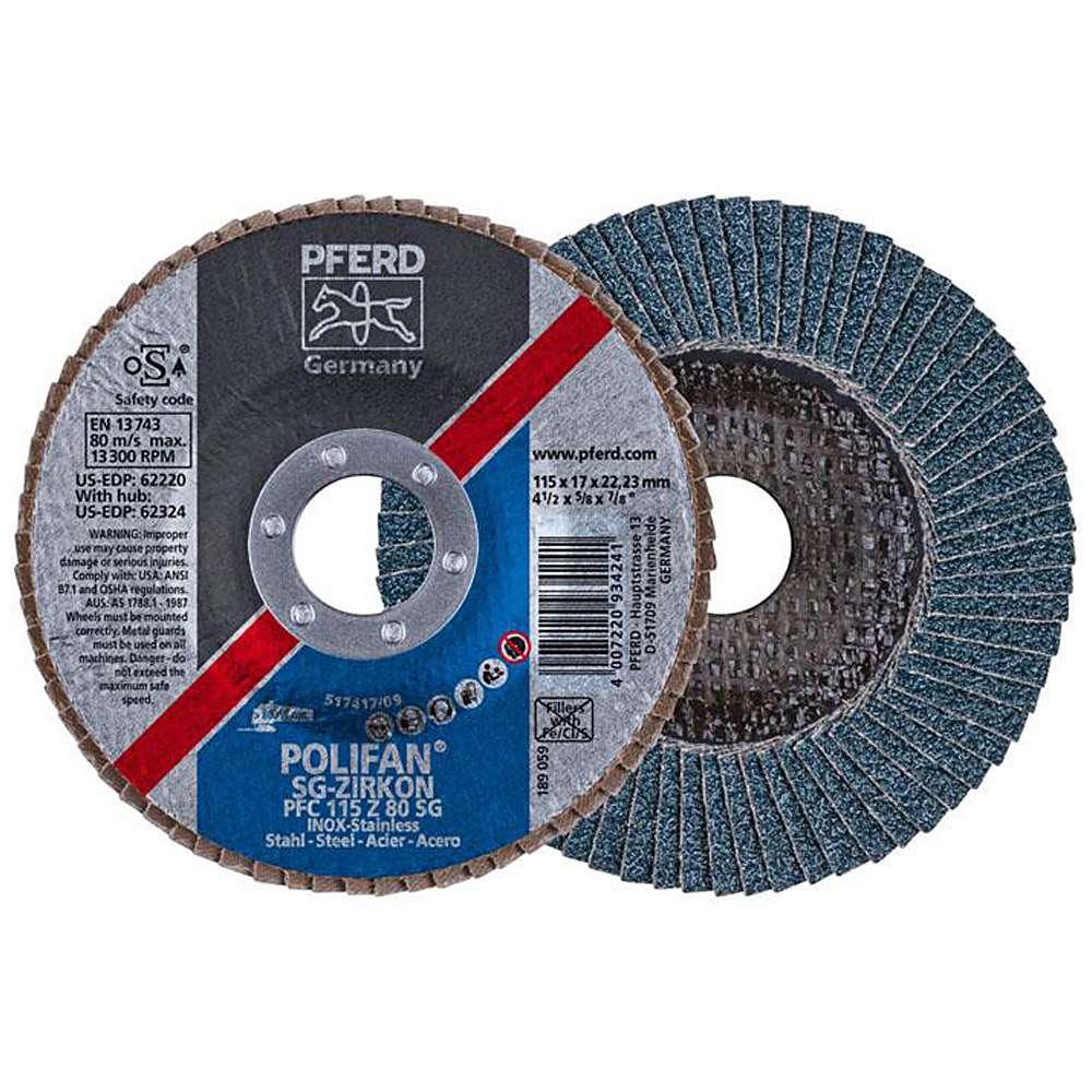 Disque à lamelles - PFERD POLIFAN® - pour acier / INOX - haute performance conique - prix unitaire