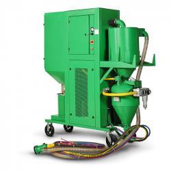 Sistema di granigliatura e recupero senza polvere BRS - attacco 5,5 kW - tensione 380 V - lunghezza tubo 5 m