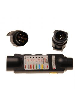 Trailer socket tester - for 7- and 13-pin connectors