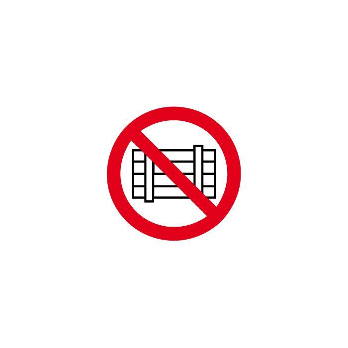 """Verbotszeichen - """"Nichts abstellen oder lagern"""" - Durchmesser 5 bis 40 cm"""