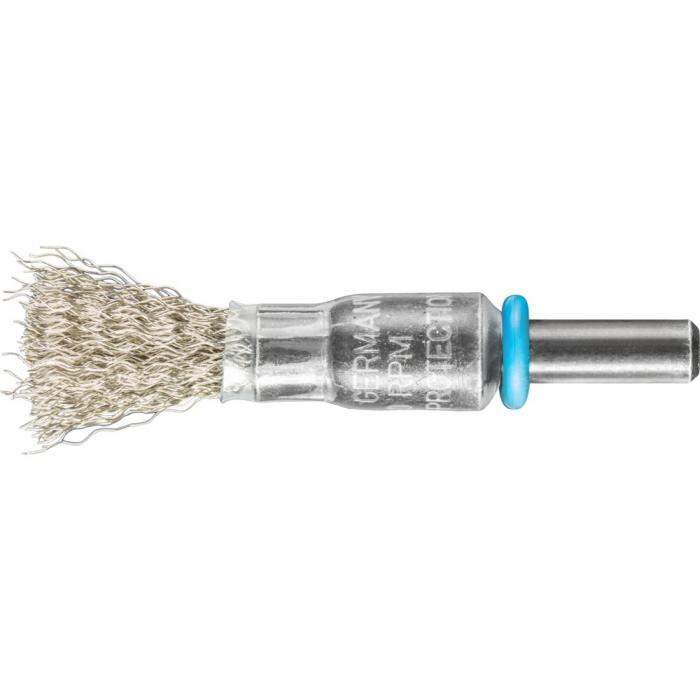 PFERD Pinselbürste PBU mit Schaft - INOX - ungezopft - Außen-ø 10 bis 30 mm - Besatzmaterial-ø 0,15 bis 0,50 mm - VE 10 Stück - Preis per VE