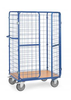 Package car - height 1800 mm - with wire mesh walls, door and roof