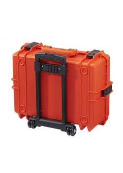 Trolley - Farbe orange - inkl. Schaumstoffeinlage - Wasserdicht