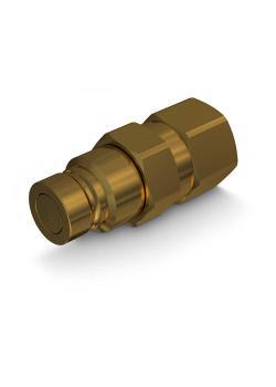 """Faster 2FFI-Stecker - Messing - DN 12 - Size 8 - BG 3 - Innengewinde NPT 3/4"""" - PN 120 - nach ISO 16028"""