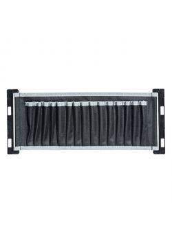 Textilhalter AluPlus Textile P 15 - mit 15 Taschen - Farbe schwarz / grau