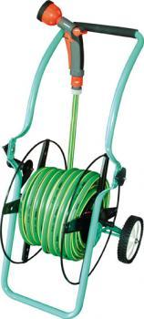 Schlauchwagen - für 50m Schlauch - klappbar mit Schlauchaufroller