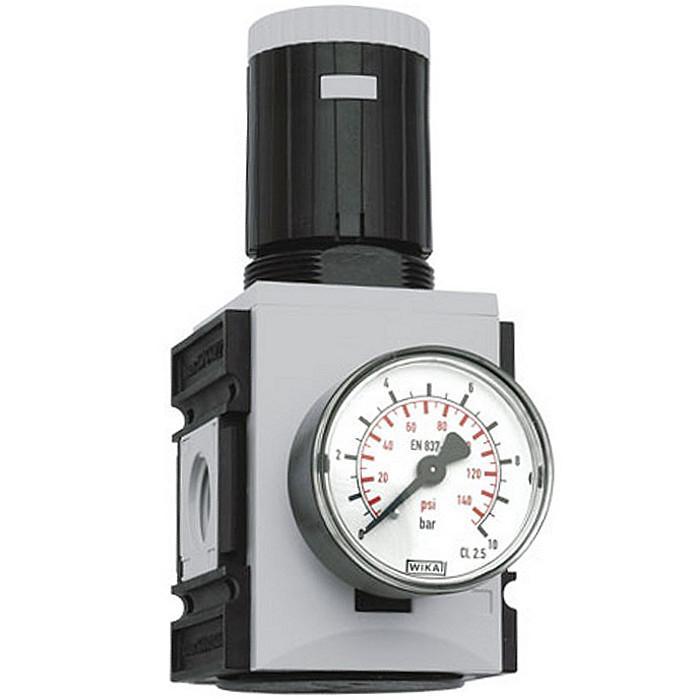 Precisionstryckregulator Futura med genomgående tryckförsörjning - byggserie 1 -
