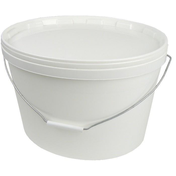 """Kunststoffeimer - oval Volumen 18,0l - weiß - mit Deckel - """"Jokey"""""""