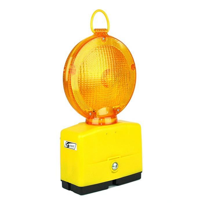 Baustellenlampe LED Blink- und Dauerlicht  gelb oder rot
