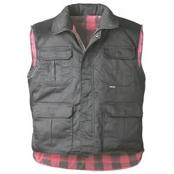"Quilted Vests ""HANDELOH"" - 65% Polyester/35% Cotton - Black"