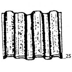 "Wellennagel ""Typ WN"" - blank - 25 mm lang"