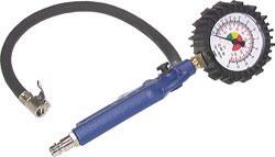 Gonfleur de pneus manuel - raccord DN 7,2 - manomètre 0-10 bar - non calibré