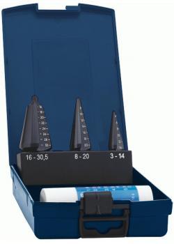 Präzisions-Blechschälbohrer-Satz - Bohrbereich 3-30,5 mm - TiAlN-beschichtet - g