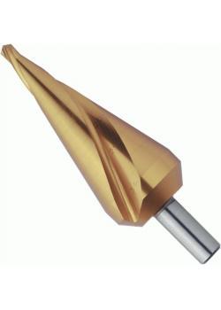 Blechschälbohrer - Bohrbereich 5-31 mm - TiN-beschichtet - spiralgenutet