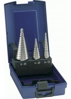Stufenbohrer-Satz - Bohrbereich 4-30 mm - blank - universal - gerade genutet - F
