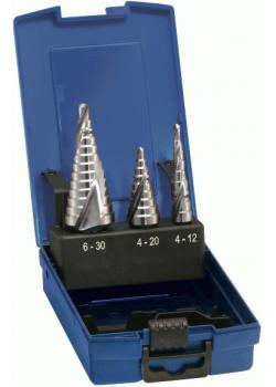 Stufenbohrer-Satz - Bohrbereich 4-30 mm - blank - universal - spiralgenu