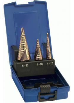 Stufenbohrer-Satz - Bohrbereich 4-30 mm - TiN-beschichtet - universal - spiralge