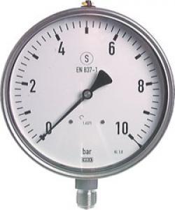 Manometro - Classe 1.0 - Ø 160 mm - Uscita verso il basso - campo di misura fino a 160 bar