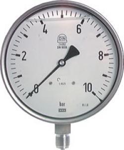 """Glicerina Manometro - Classe 1.0 - Ø 160 millimetri -1 bar a 1600 bar - verticale - G 1/2 """"B"""