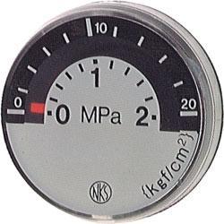 Manomètre - classe 4,0 - Ø 26 - prélèvement derrière la zone de mesure jusque 20