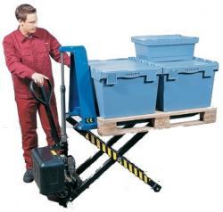Gabelhubwagen - Hub bis 800 mm - Traglast 1000 kg - mit Elektrohydraulik